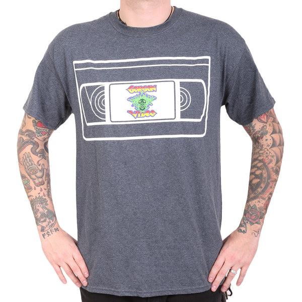 Gorgon Video VHS Tee - Heather Gray