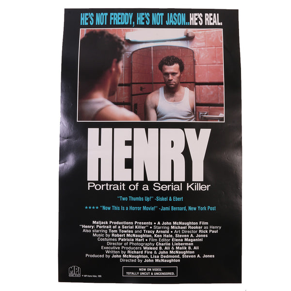 Henry: Portrait of a Serial Killer Original Promotional Poster