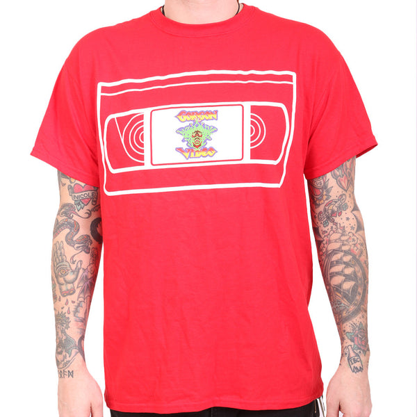Gorgon Video VHS Tee - Red