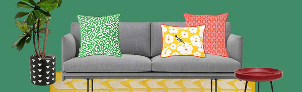 Five Colourful Ways to Style a Grey Sofa