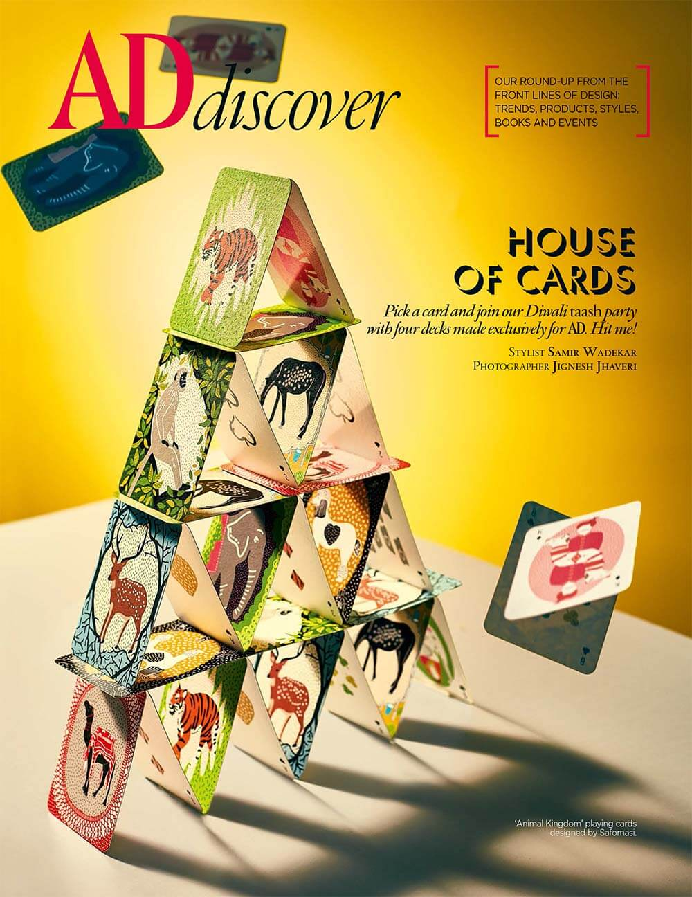 Illustrated Playing Cards Tower of Cards