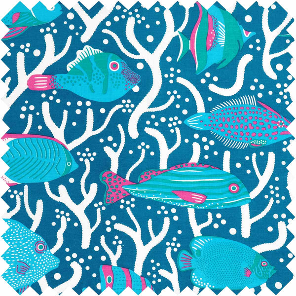 Blue Ocean Reef Fabric