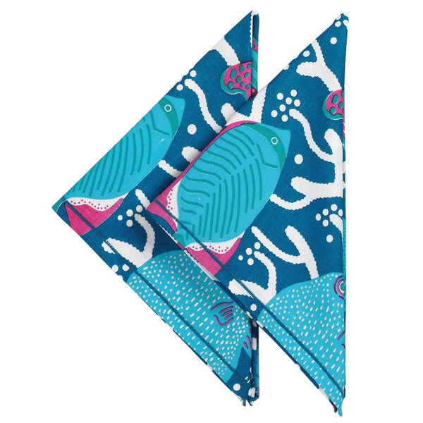 Blue Ocean Reef Napkins - Set of 2