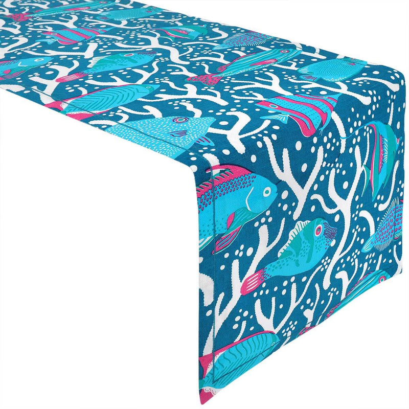 Blue Ocean Reef Table Runner