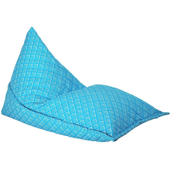 Blue Solid Fish Scale Bean Bag