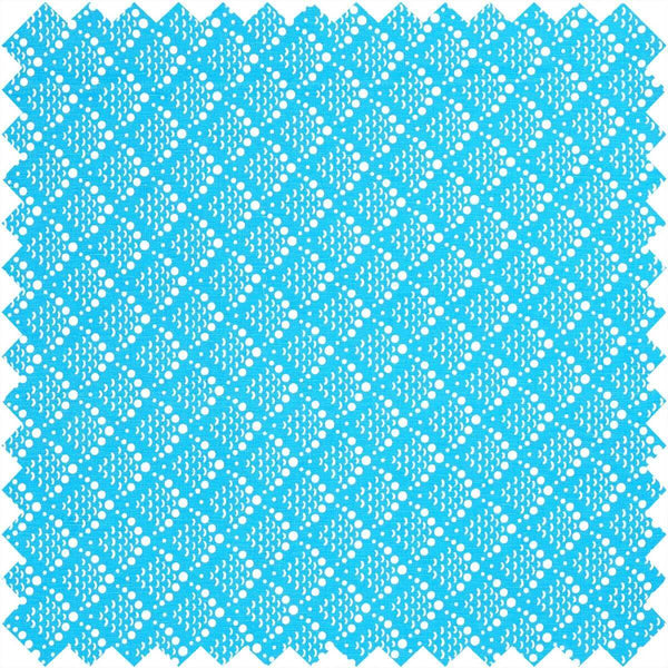 Blue Solid Fish Scale Fabric