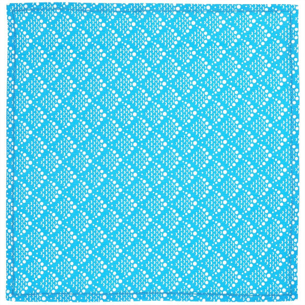 Blue Solid Fish Scale Napkins - Set of 2