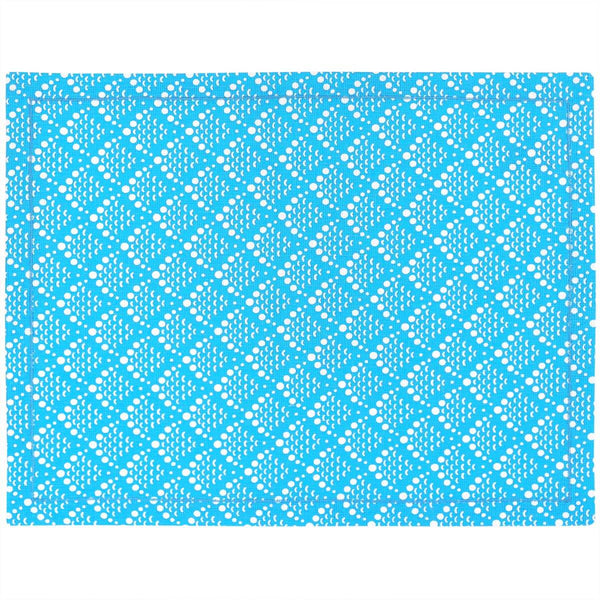 Blue Solid Fish Scale Placemats - Set of 2