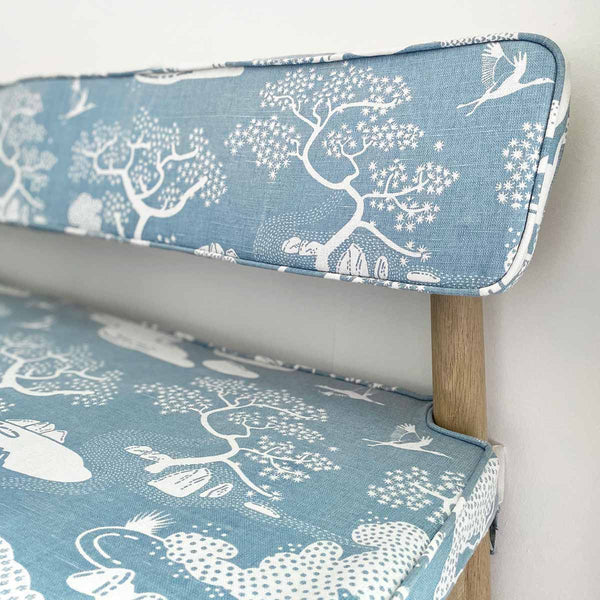 Dusty Blue Zen Onsen Garden Fabric