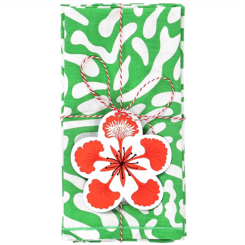 Green Golf Course Napkins - Set of 2