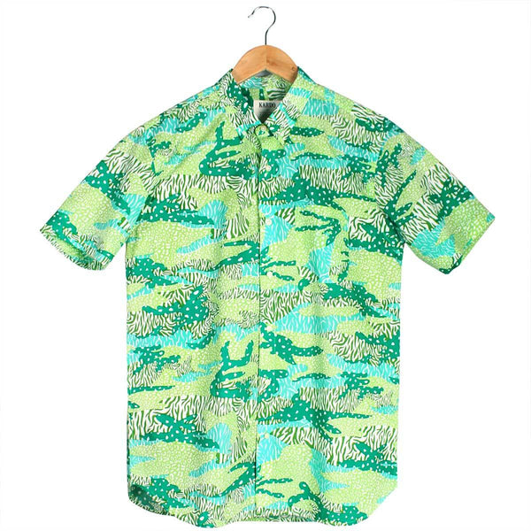 Green Big Cat Camo Shirt