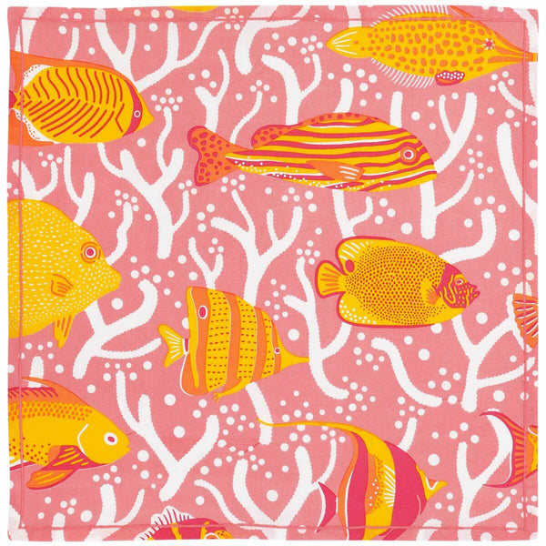 Pink Coral Reef Napkins - Set of 2