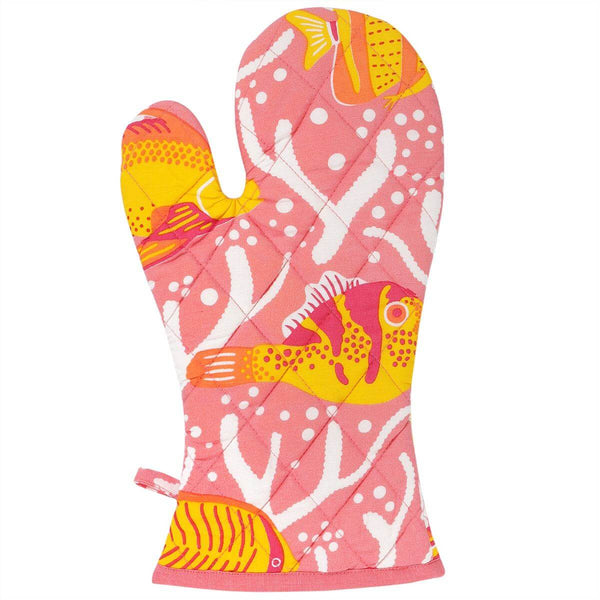 Pink Coral Reef Oven Glove