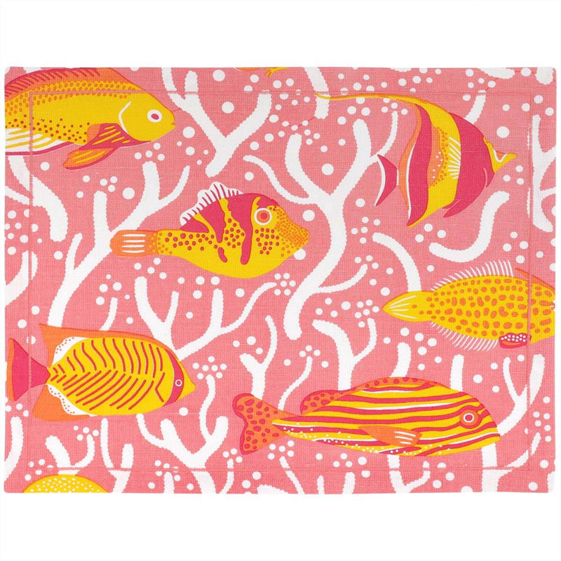 Pink Coral Reef Placemats - Set of 2