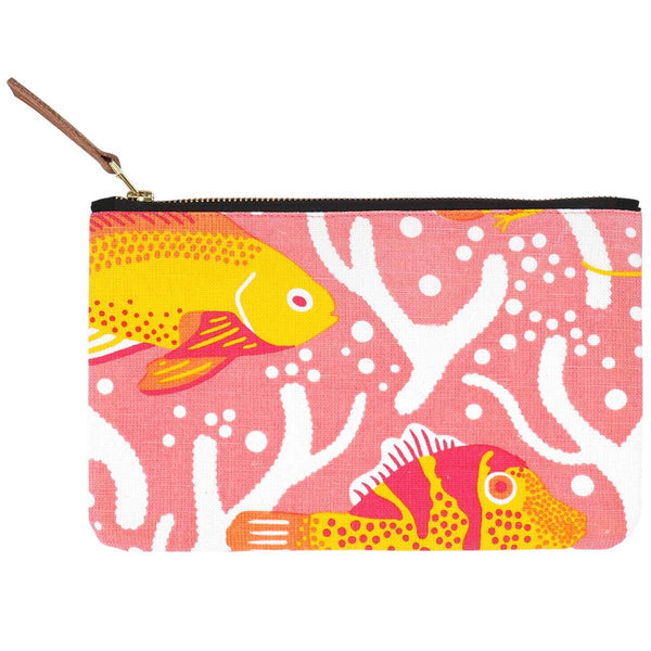 Pink Coral Reef Pouch