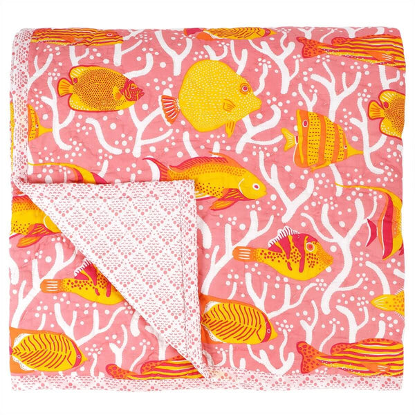 Pink Coral Reef Quilt
