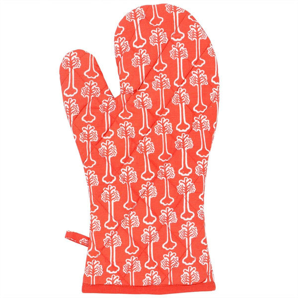 Red Hibiscus Oven Glove