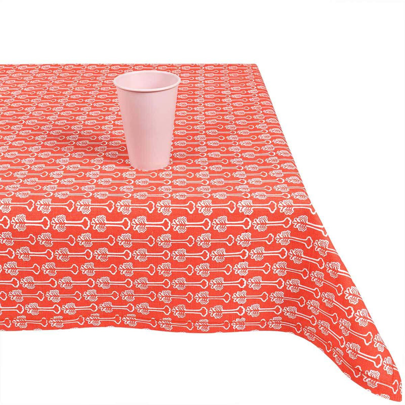Red Hibiscus Table Cloth