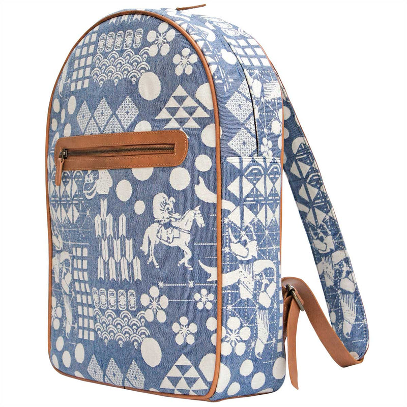 Blue Festival Woven Backpack
