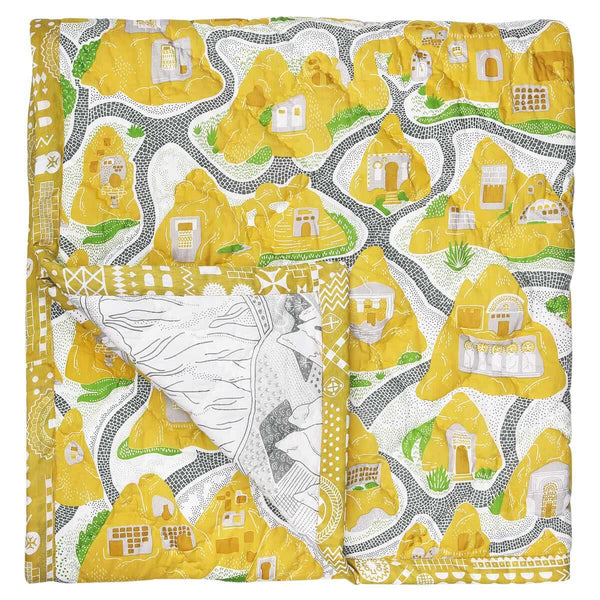 Cave House Baby Quilt