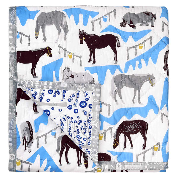 Horse Ranch Baby Quilt