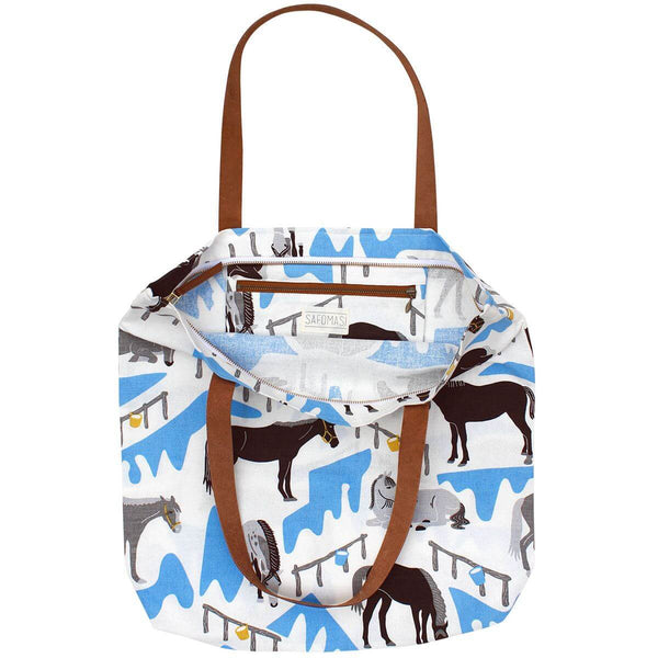 Horse Ranch Simple Zip Tote Bag