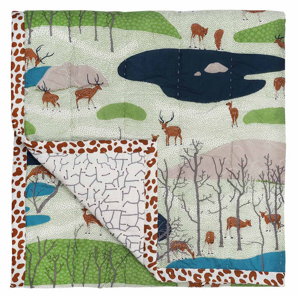 Spotted Deer Baby Quilt
