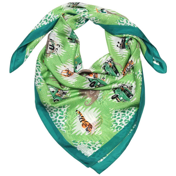 Tiger Safari Silk Scarf