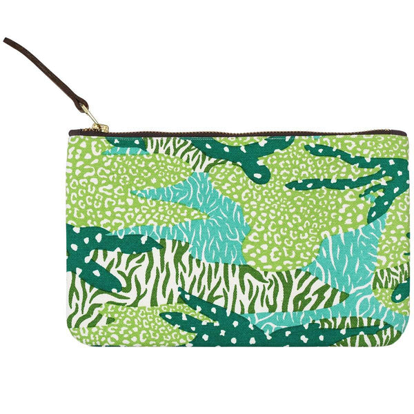 Green Big Cat Camo Pouch