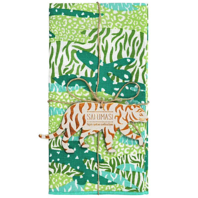 Green Big Cat Camo Napkins - Set of 2