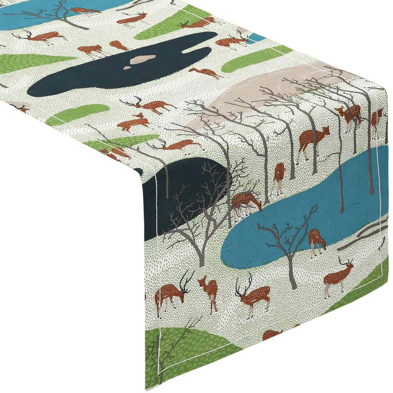 Spotted Deer Table Runner