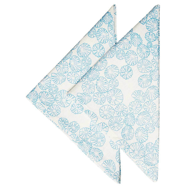 Light Blue Limpet Napkins - Set of 2