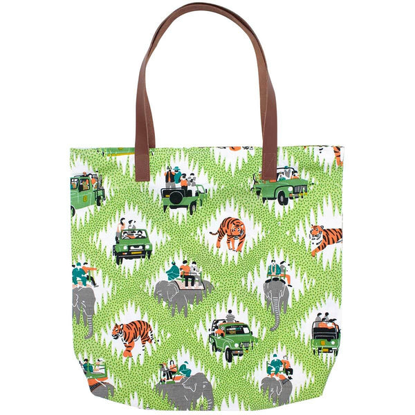 Tiger Safari Simple Zip Tote Bag