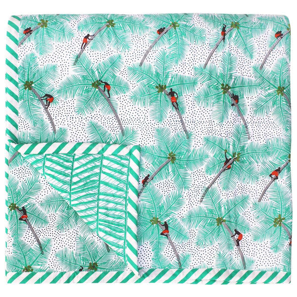 Coconut Palm Pickers Baby Quilt