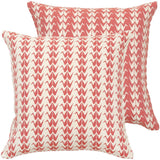 Coral Crane Woven Cushion Cover
