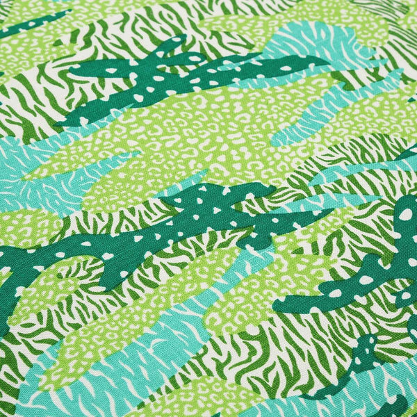 Green Big Cat Camo Fabric