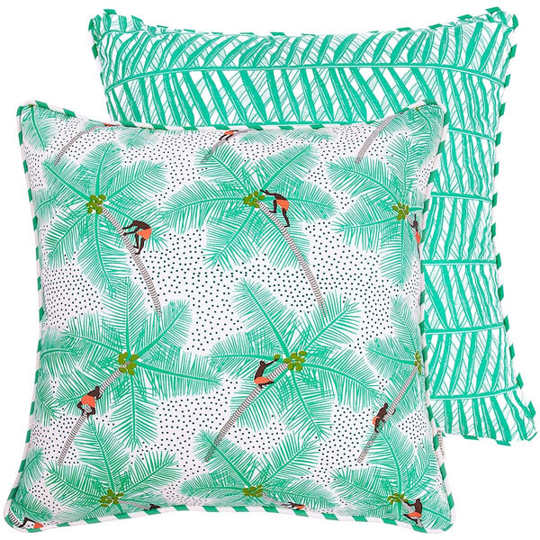Coconut Palm Pickers Cushion Cover