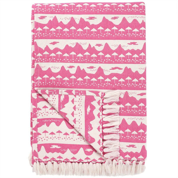 Pink Belle Mare Woven Throw