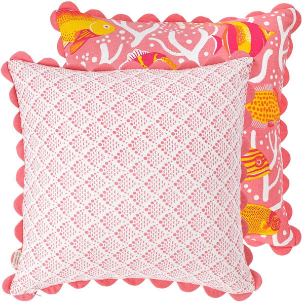 Pink Coral Reef Cushion Cover