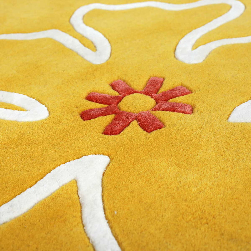 Yellow Hibiscus Rug