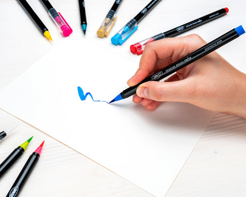 DACO Blog How to Use DACO Genuine Brush Pens for Watercolor Marker Art