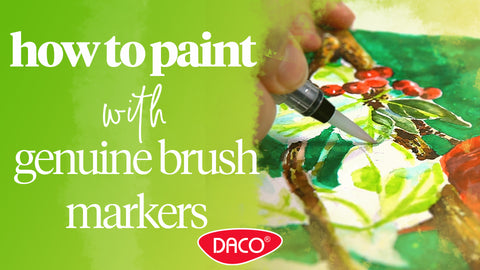 How to Paint Using DACO Genuine Brush Markers