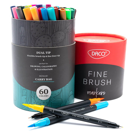 Fine Brush Art Markers, 60 colors