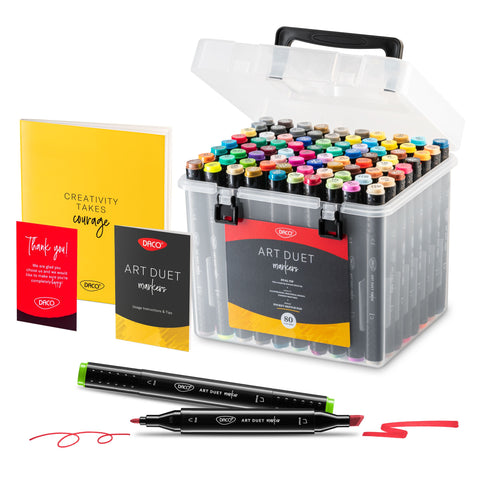 Art Duet Professional Markers, 79 colors