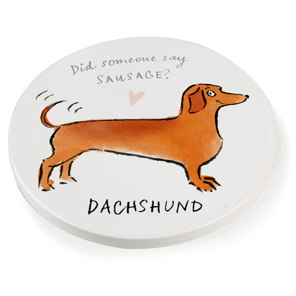 Dachshund Ceramic Coaster