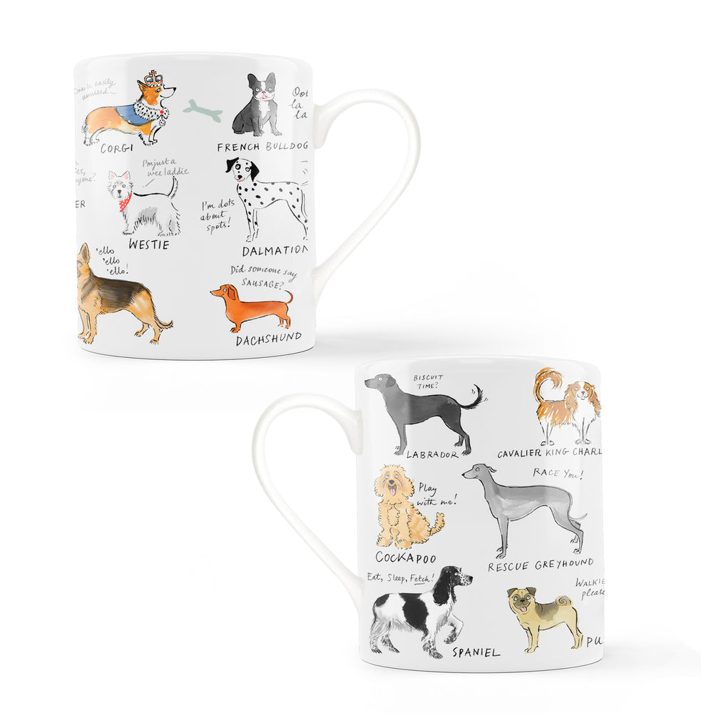 Multi Dog Bone China Mug
