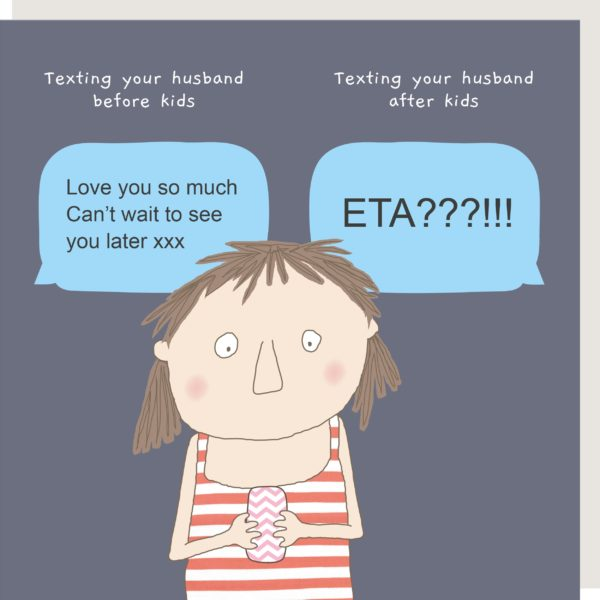 Texting After Kids Greeting Card