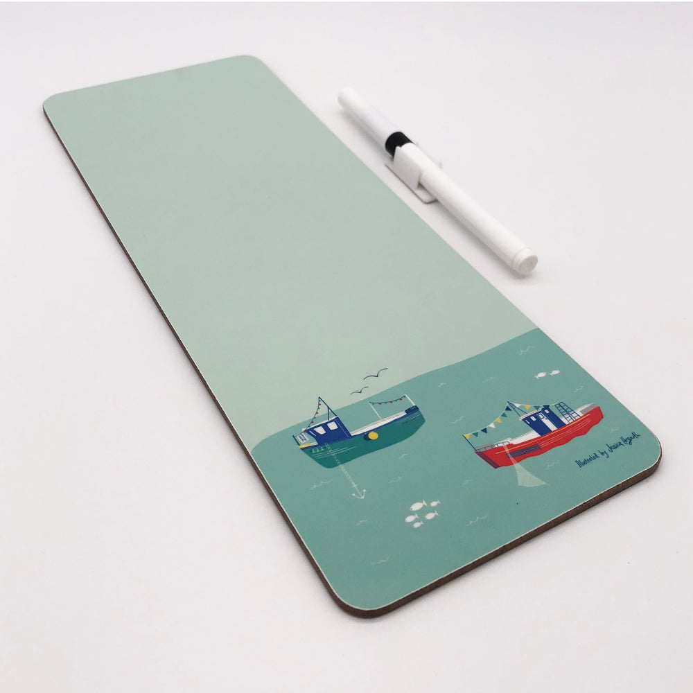 Fishing Boats Dry Wipe Magnetic Memo Board