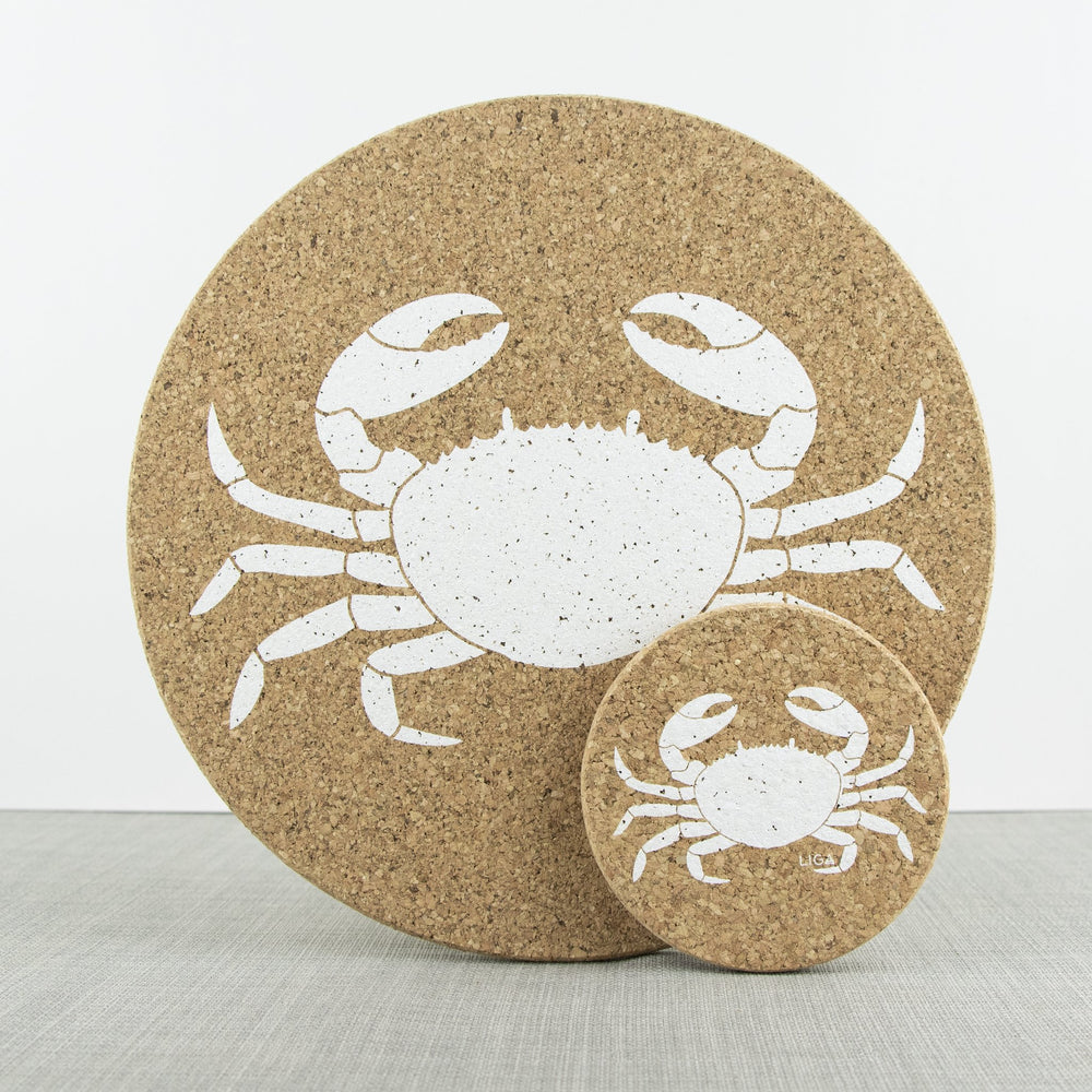 Crab Cork Placemats & Coasters