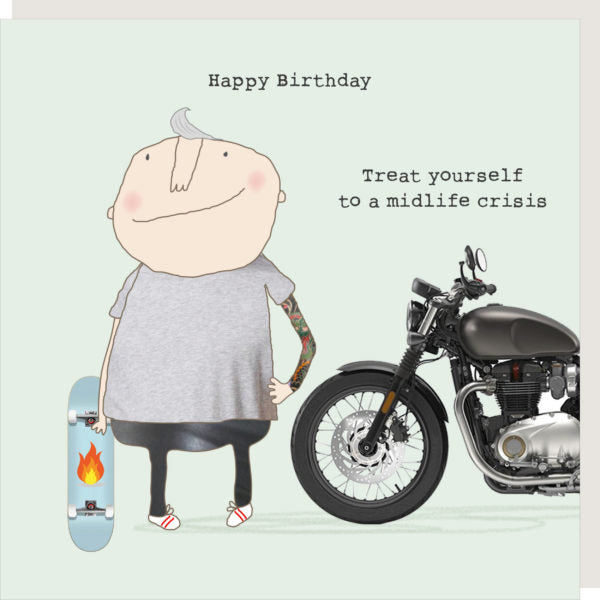 Treat Yourself To a Midlife Crisis Birthday Card